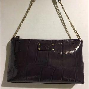 Kate Spade Plum Patent leather shoulder handbag